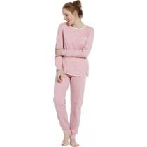 Pastunette dames pyjama roze dikke tricot 125