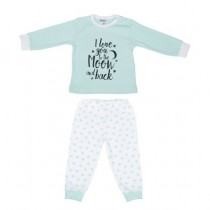 Baby pyjama Beeren To the Moon , Mint
