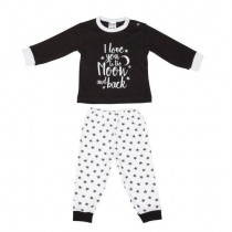 Baby pyjama Beeren To the Moon, Zwart
