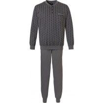 Robson heren pyjama 704-4 Grey