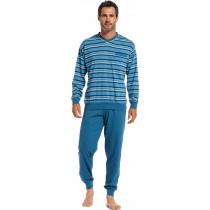 Robson heren pyjama 706-2 Bleu