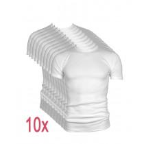 10-pack Beeren t-shirt M3000 korte mouw ronde hals, wit.