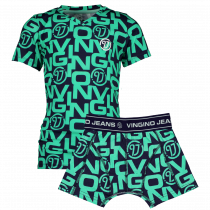 Vingino Jongens shirt + boxer, Active Mint