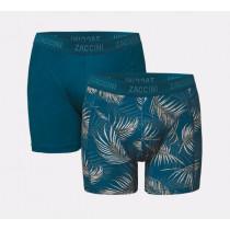 va € 14,95 Zaccini heren boxershorts 2-pack Jungle-Leaves