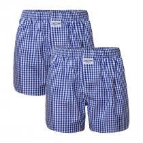 2-pack Zaccini wijde katoenen heren boxershorts, Donker-blauw