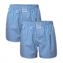 2-pack Zaccini wijde katoenen heren boxershorts, Blauw