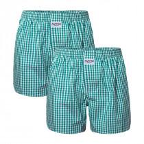 2-pack Zaccini wijde katoenen heren boxershorts, groen