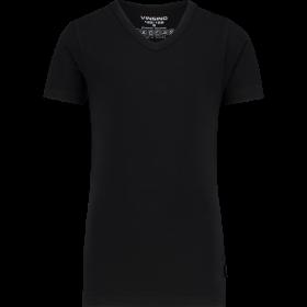 Vingino T-shirt Korte Mouw met V-neck, Black