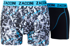 Zaccini heren boxershorts 2-pack, Dots Black
