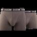 Zaccini heren boxershort 2-pack uni Grijs