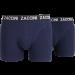 Zaccini heren boxershort 2-pack uni Marine