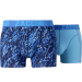 Zaccini heren boxershorts 2-pack, Mineral Blue