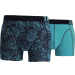 Zaccini heren boxershorts 2-pack, Summer Spray Blue
