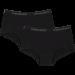 Vingino Meisjes Shorts 2-pack, Zwart.
